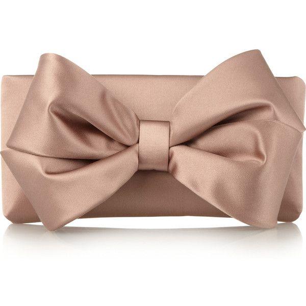 Valentino Bow Satin Clutch Bag