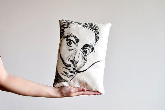 cotton linen Fabrics Decorative shade pillow art by MiyyoART, $26.00