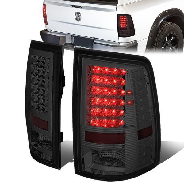 09 17 Dodge Ram 1500 2500 3500 Led Rear Brake Tail Lights Smoked Tail Light Ram 1500 Dodge Ram 1500