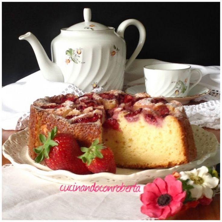 Torta di ricotta e fragole ( Ricetta veloce con Bimby ) - Ricette Blogger Riunite