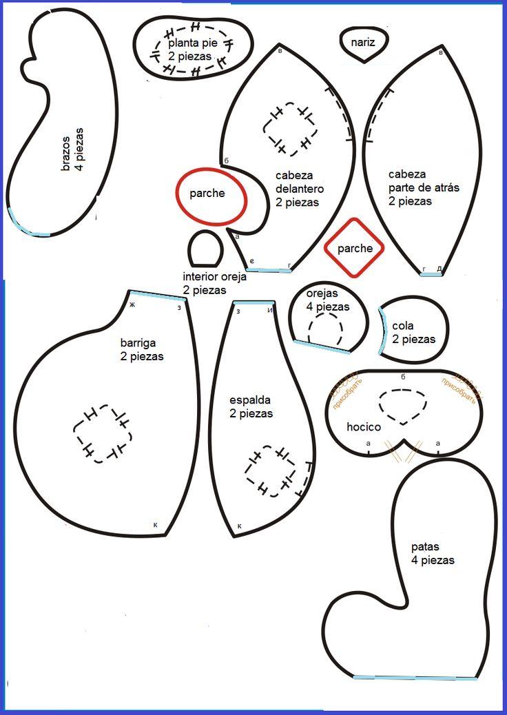 Ms de 25 ideas increbles sobre Patrones de osito de peluche en