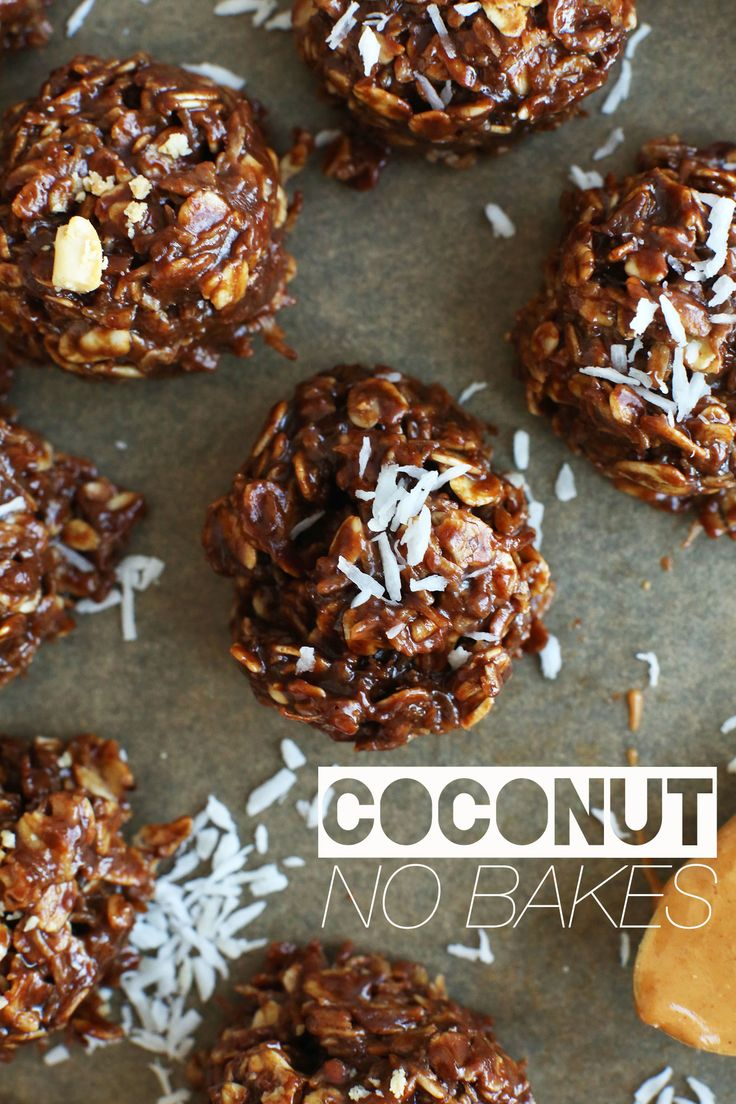 COCONUT NO BAKE COOKIES! #vegan #glutenfree  Just found these super delicious looking glutenfree chocolate coconut bites   Can't wait to try them out! #delish