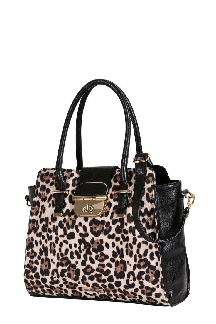 New Kardashian Kollection Turn Lock Tote In Leopard Is Now Available At Victoria Station