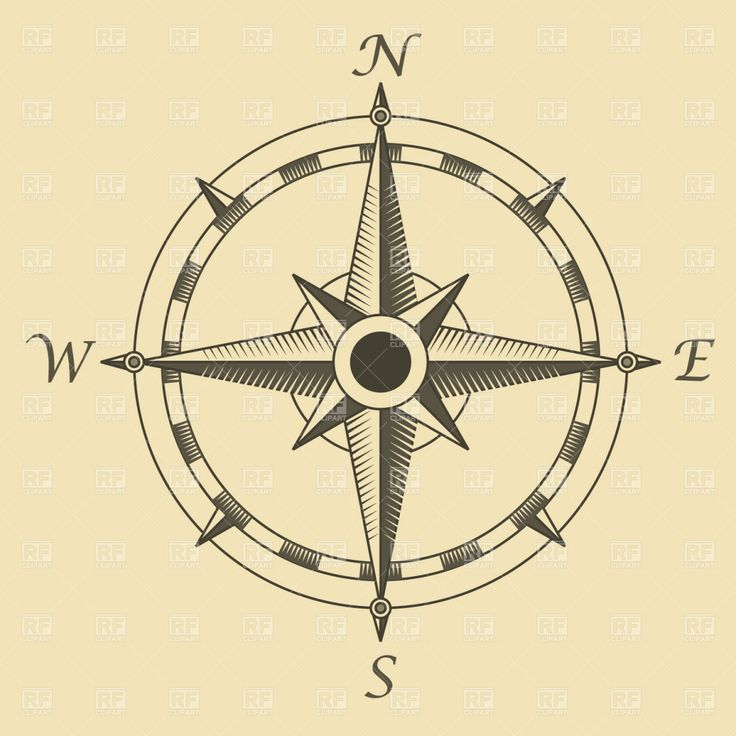 Alternate (simpler/more-traditional) compass tattoo idea