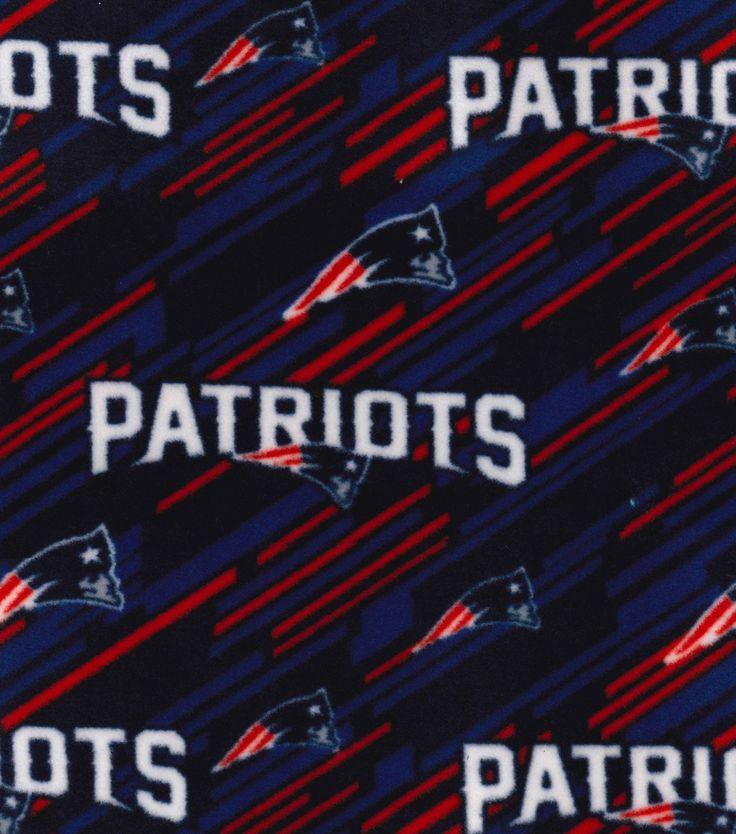 "New England Patriots Fleece Fabric 58""-Logo ""Joann Fabric Store"""