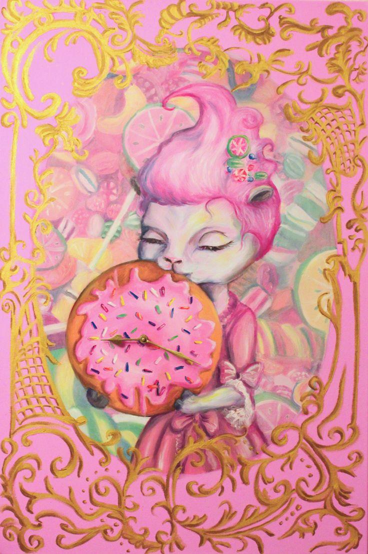 Sweet dreams - lamb- clock - rococoo - sweets - art