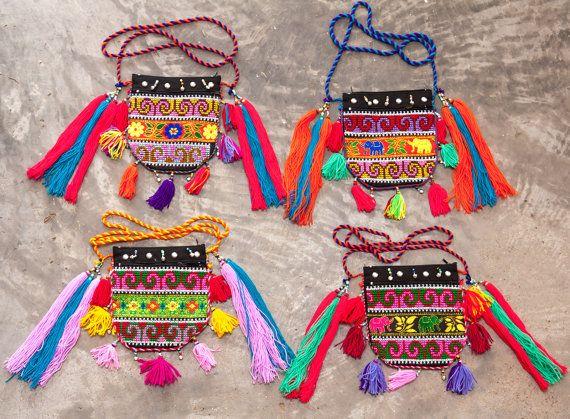 Mien HalfMoon Bag /Yao Half Moon Bag /Tribal by CHEZMOIMYHOME, $40.00