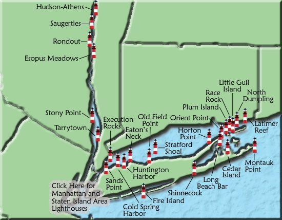 Lighthouses of Long Island Sound and Long Island South Shore
