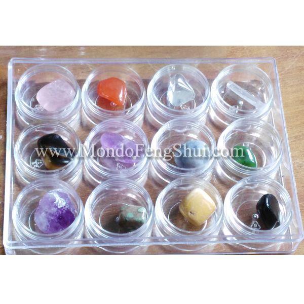Kit Cristalloterapia - questo kit di cristalloterapia contiene 12 pietre base…