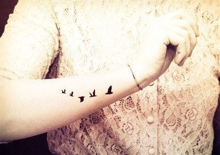 swallows birds - InknArt Temporary Tattoo wrist quote tattoo body sticker fake tattoo wedding tattoo small flybird flying bird