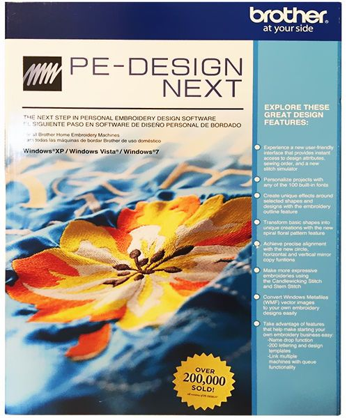 Brother PE-Design Next Embroidery Digitizing Software
