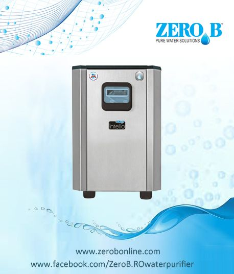ZERO B INTELLO RO PURIFIER  Multi-stage RO Water Purifier Compact, Stainless Steel Body Fits Under The Kitchen Sink