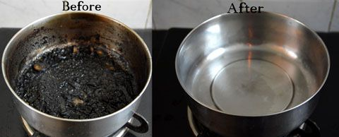 Padhuskitchen: How to Clean Burnt Pots and Pans-Tips to Clean Bur...