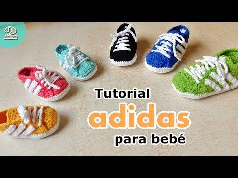 Como tejer zapatillas para bebes ( parte 2/2) - YouTube