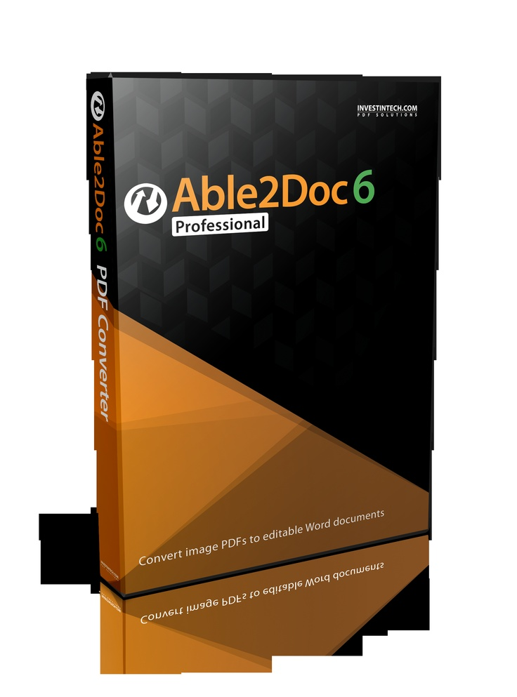 Able2Doc Professional delivers all the PDF to Word conversion capabilities of Able2Doc 6.0 and adds the ability to convert text from scanned PDFs and image PDFs into easily editable Word documents.