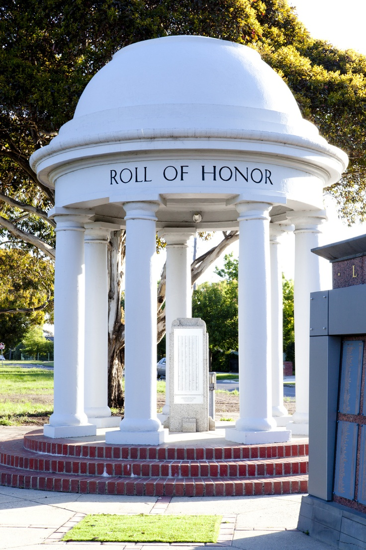 The Roll of Honor sits beside the Arch of Victory on Sturt Street Ballarat.