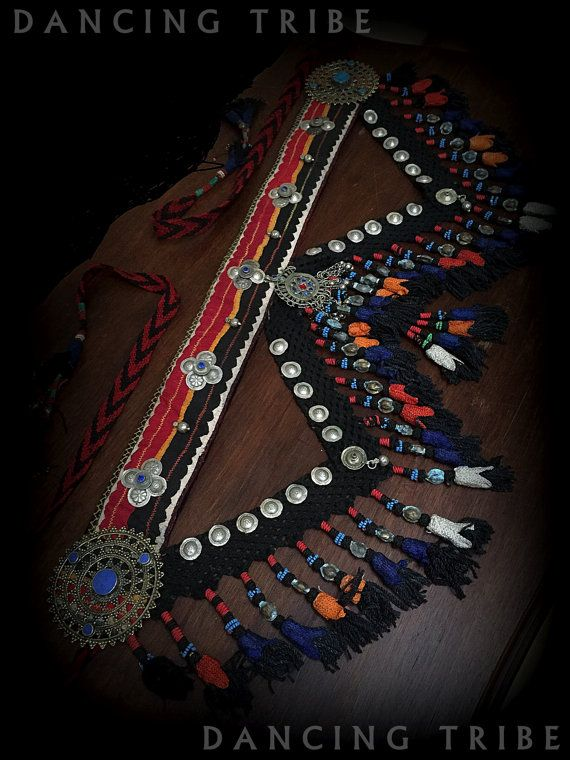 Tribal Belly Dance Nomad Desert Tassel Belt ATS by DancingTribe