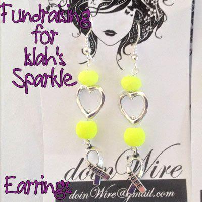 IslahsSparkle Earrings Lime Green Crystals Hearts https://www.facebook.com/IslahsSparkle