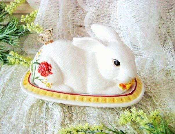 """Масленка-Кролик """"Цветочный базар"""""""