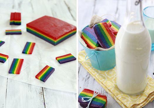 Slice and Bake Rainbow Cookies