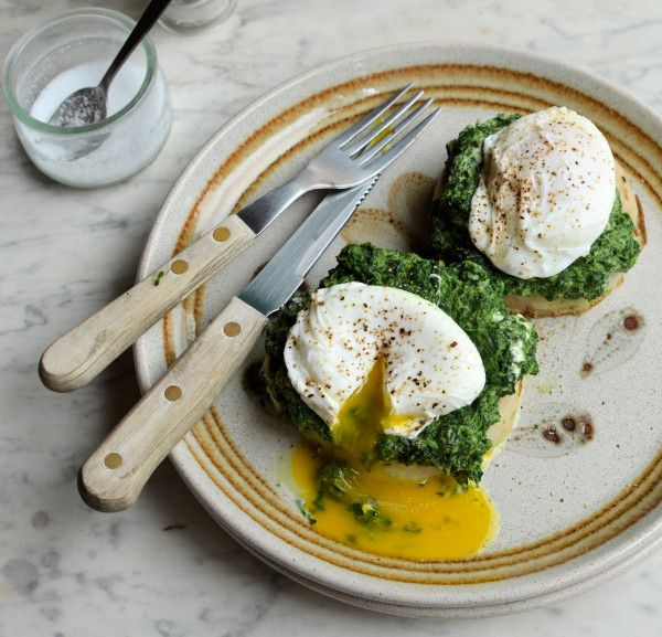 Spinach and Poached Egg Muffins