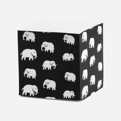 Svenskt Tenn Memoblock Elefant Svart