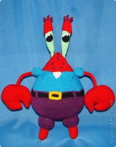 Игрушка Вязание крючком Спанч Боб и его друзья Пряжа фото 4