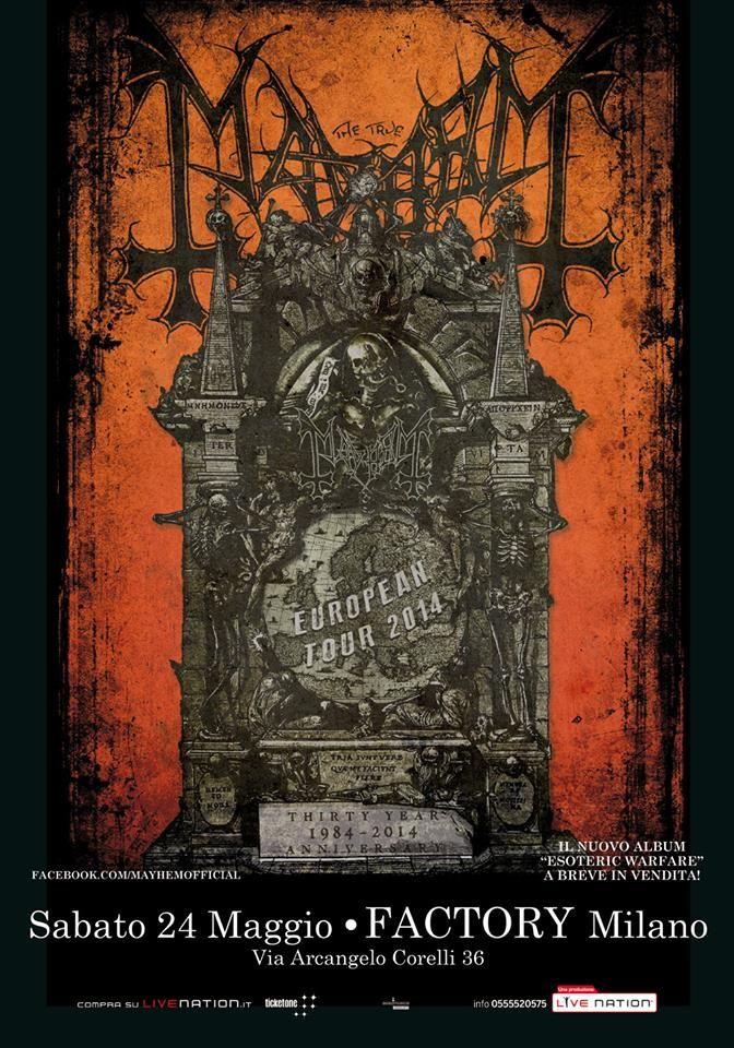 Mayhem 2014  (Flyer Metal / Poster Metal)