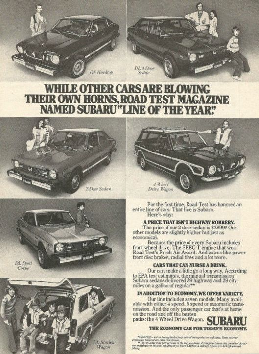 "1976 Subaru Car Ad ""Year Line"""