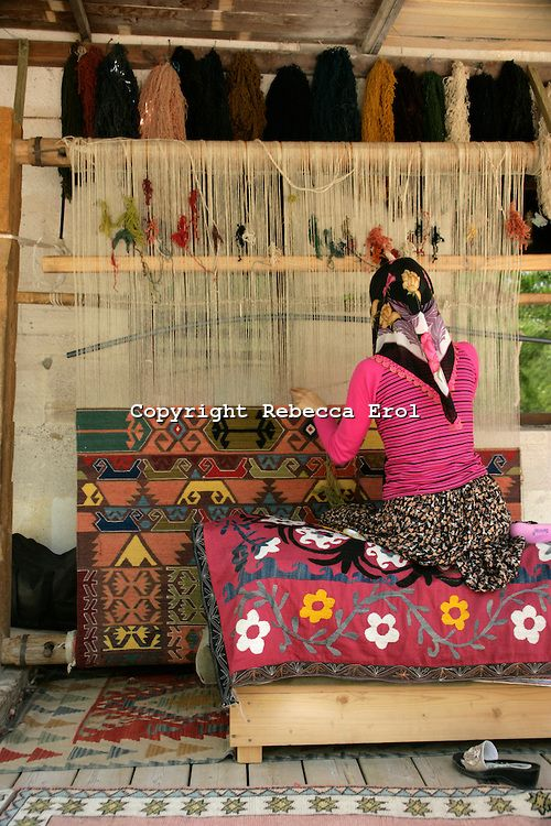 Kilim weaving in Goreme village, Turkey