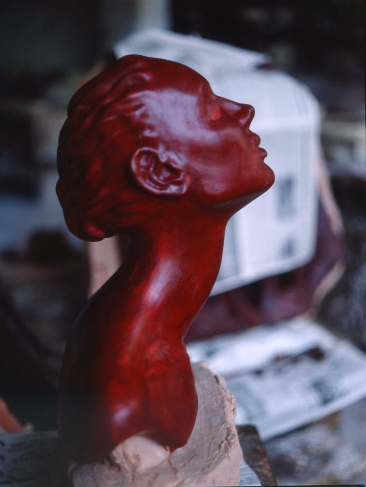 head of woman - wax - by aldo zoccante