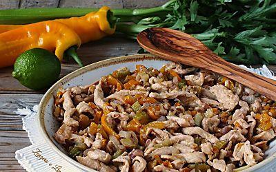 Insalata di pollo e verdure | piatto unico