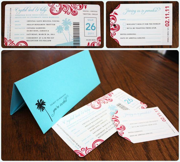 Invitation For Destination Wedding Boarding P