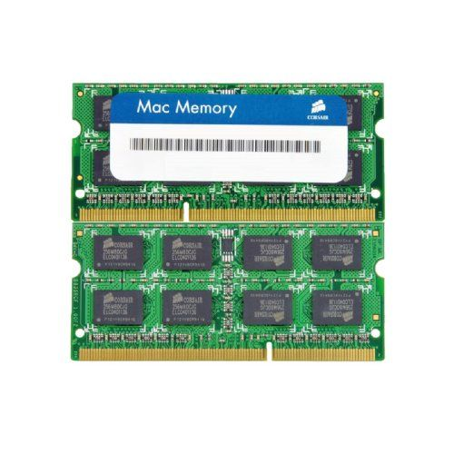 Corsair Apple 8 GB Dual Channel Kit DDR3 1066 (PC3 8500) 204-Pin DDR3 Laptop SO-DIMM Memory CMSA8GX3M2A1066C7. Format: So-dimm. Speed: 1066mhz Cl7. Upgrading memory can also be a cost-effective way to get more life out of your older system: before you trade up to a new one, just upgrade the memory. Density: 8gb .2x4gb So-dimm. Pin Out: 204 Pin. Need help? This includes virtually all models offered by Apple since 2009. Compatible with MacBook Pro .13-inch, Mid 2009., MacBook Pro...