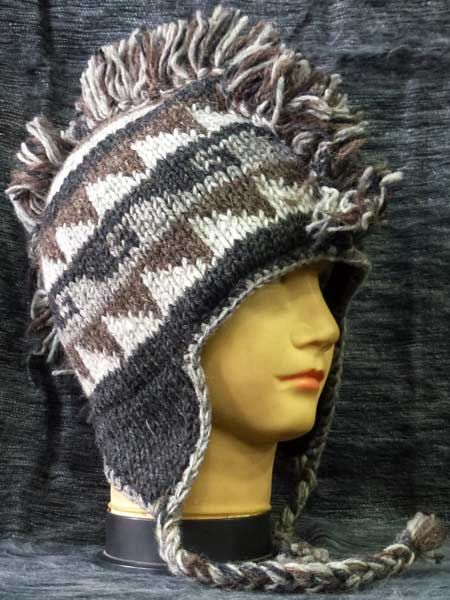 8816167e89d Mohican sherpa hat-natural! This Mohican Beanie is a must for your hippie  clothing store!