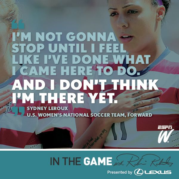 Robin Roberts hits the pitch with Sydney Leroux to discuss her success with U.S. Soccer and the Seattle Reign FC.