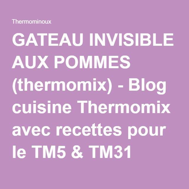 Thermomix gateau invisible aux pommes