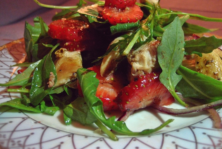 So delicious chicken salad with strawberries!  Ommnononom :)