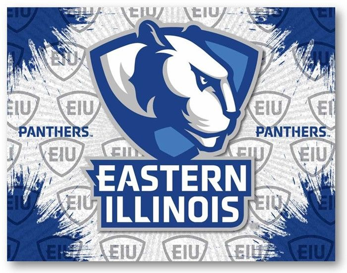 Eastern Illinois Panthers D1 Printed Logo Canvas.  Visit SportsFansPlus.com for Details.