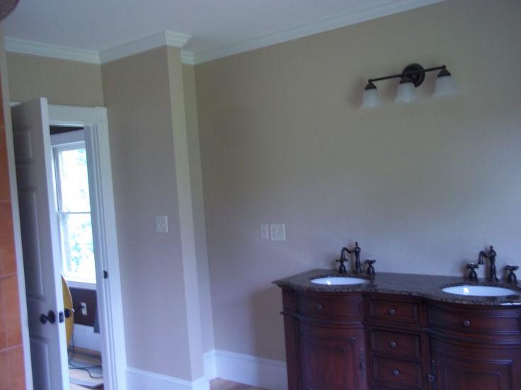 Cabin Interior Master Bath   Wall Color (Hop Sack   Satin), Ceilings (