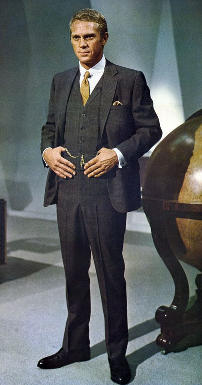 Mr. Thomas Crown and The Three-Piece Suit 3.  Dressed in Doug Hayward, 1968.