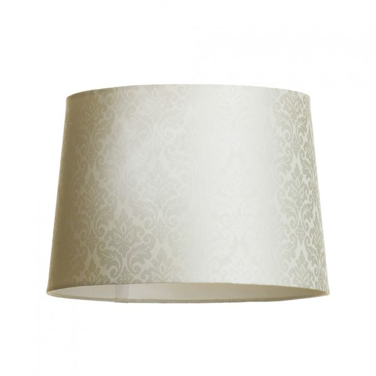 C01-LC2111 Damask Print Easy to Fit Cylinder Shade - Ivory