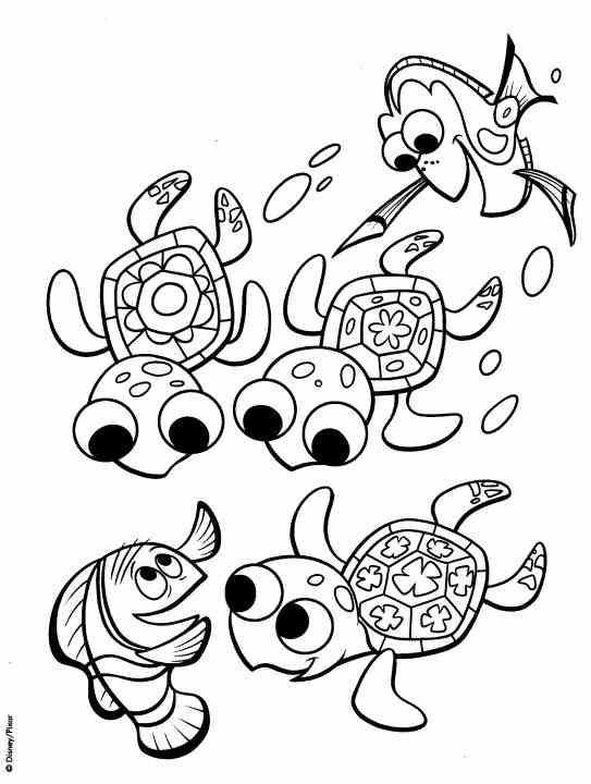 nemo coloring pages to print finding nemo coloring pages - Finding Nemo Coloring Book