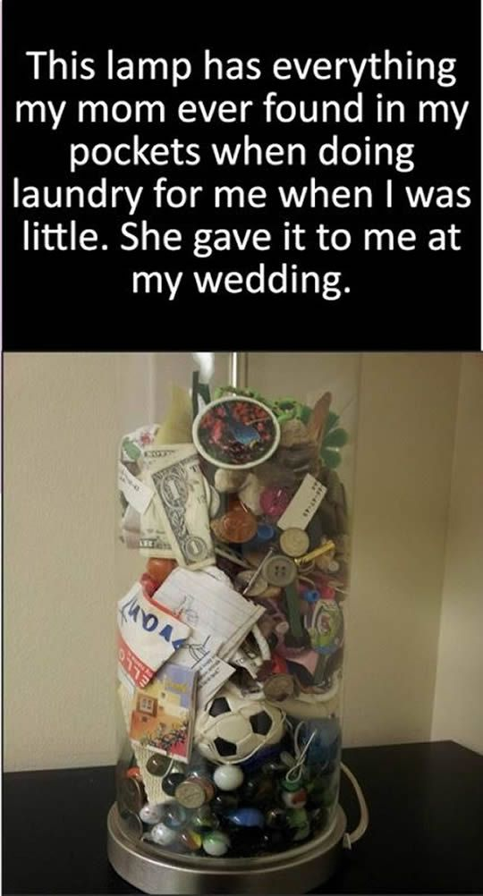 Mom giving the best wedding gift to her daughter.