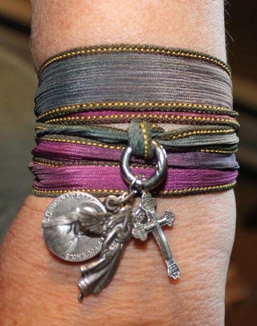DIY Silk Ribbon Wrap Bracelet