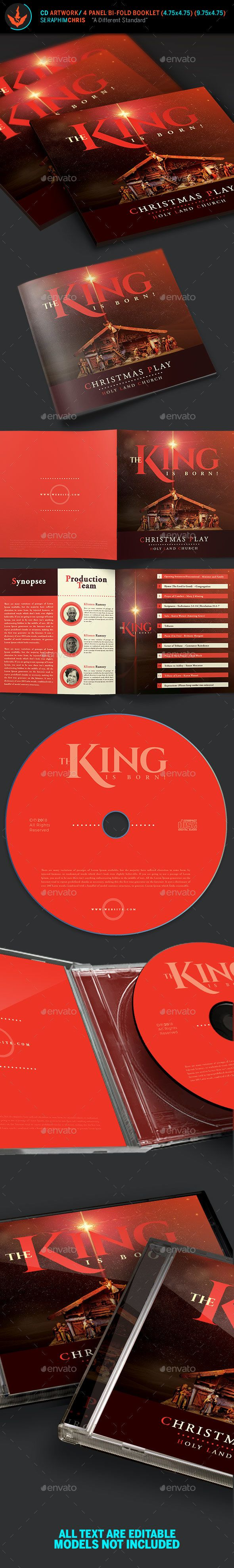 The King Is Born #Christmas CD Artwork Template - #CD & DVD #Artwork Print Templates