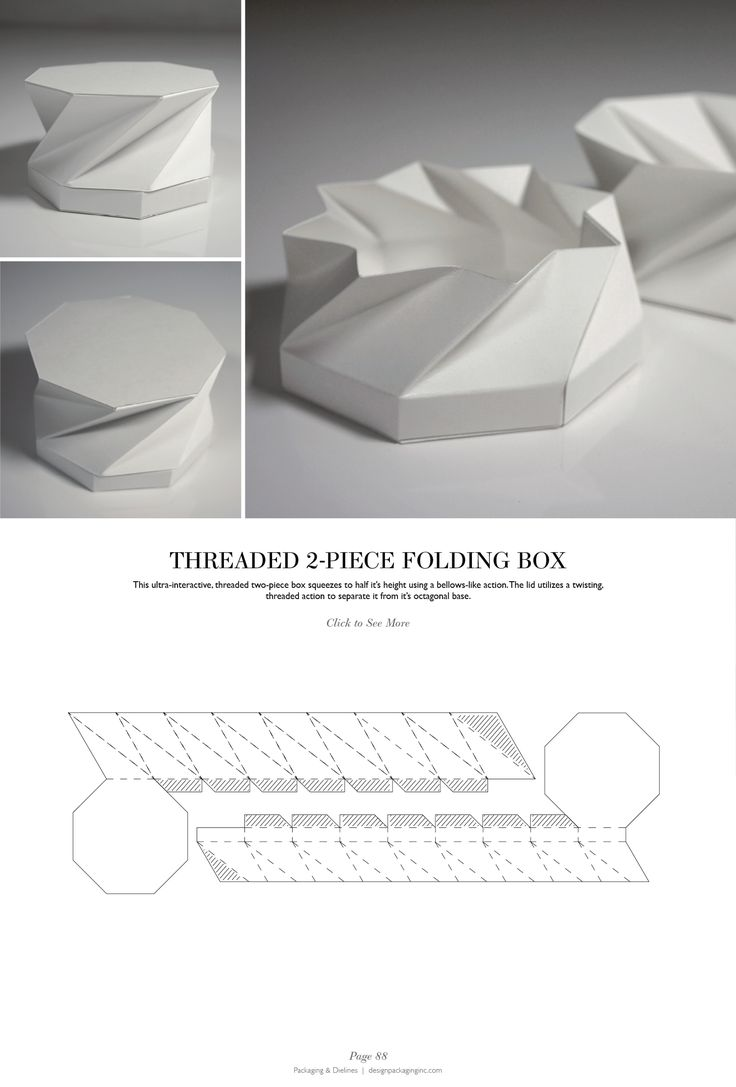 Threaded 2-Piece Folding Box - Packaging & Dielines: The Designer's Book of Packaging Dielines