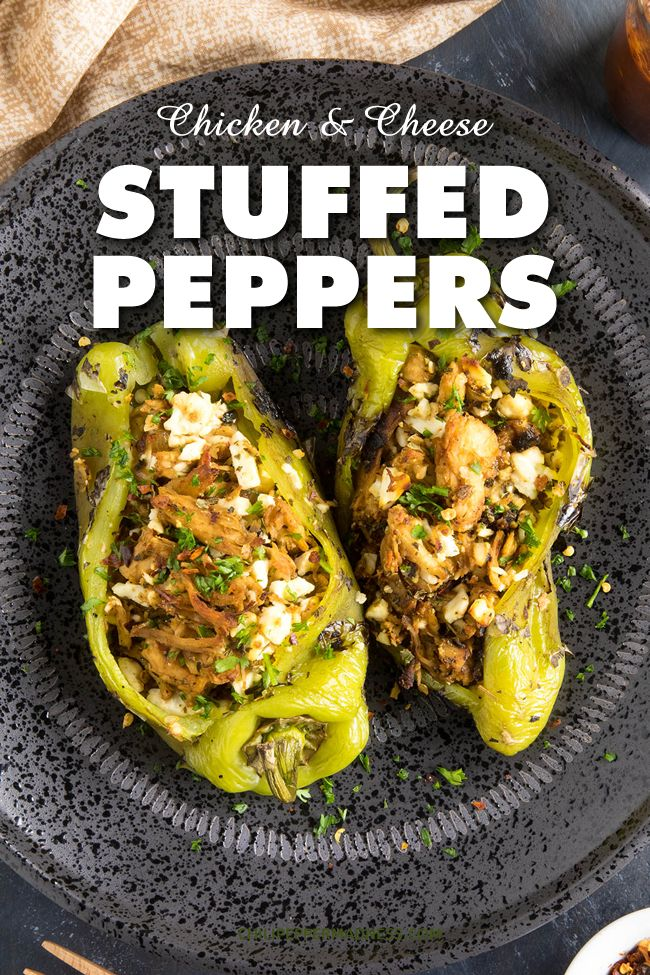 Chicken And Cheese Stuffed Anaheim Peppers Stuffed Peppers Peppers Recipes Pepper Recipes Healthy