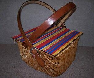 DIY rustic Picnic Basket and Liner