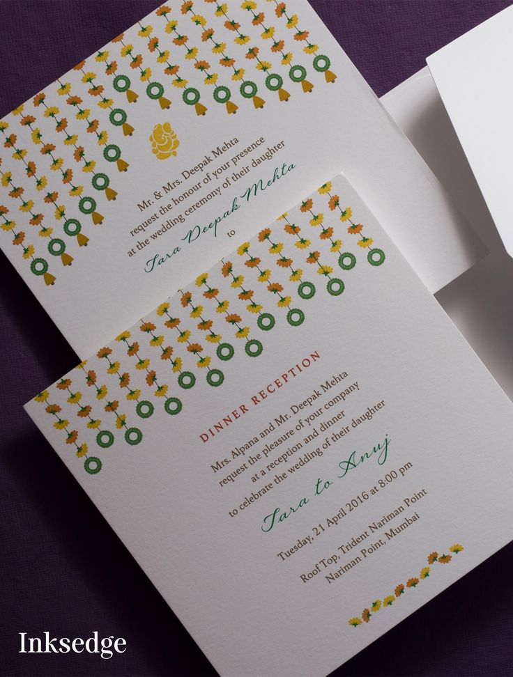 Marigold Strings inksedge inksedgeweddinginvitations weddigninvitations foldedweddingcards